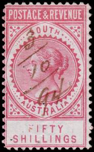 South Australia Scott 87a (1886) Used H F, CV $800.00 M