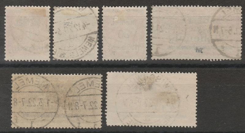 MEMEL 1920 FRANCE OVERPRINTED RANGE TO 4MK USED