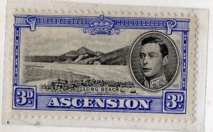 ASCENSION ISLAND 1938 G.VI - 3d SG42 SCARCE Mounted Mint cv 100 gbp