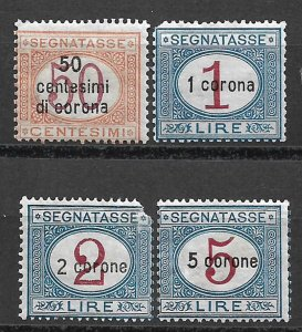 COLLECTION LOT OF #573 AUSTRIA # NJ13-6 MH 1919 CV=$ 163 2 SCAN