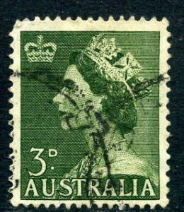 Australia - Scott #257 - 3 p  - Queen Elizabeth II - Used