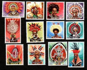 Papua New Guinea 446-457 Mint NH Native Costumes!