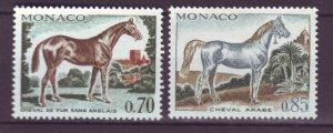 J22072 Jlstamps 1970 monaco part of set mh #763-4 horses
