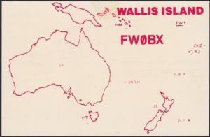 WALLIS & FUTUNA 1989 Wallis Island radio QSL card...........................1656