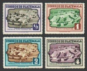Guatemala 339-342,hinged.Michel 522-525. Modern model schools, 1951.