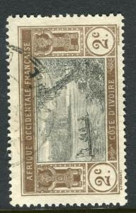 FRENCH IVORY COAST;  1913 early pictorial issue fine used 2c. value