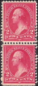 265 Mint,OG,NH... Pair... SCV $210.00... Double Perf Error... EFO