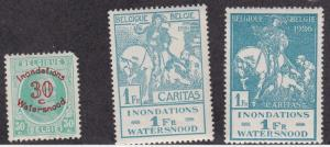 Belgium # B57-58, Horse - Charity Stamps, NH, 1/2 Cat., Low value damaged