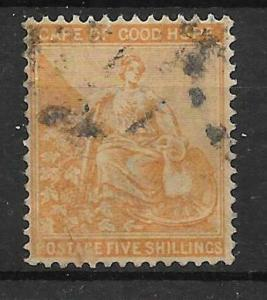 CAPE OF GOOD HOPE SG45 1883 5/= ORANGE USED