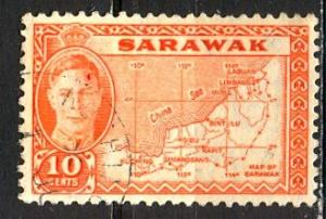 Sarawak: 1952 Sc. #195, O/Used Single Stamp