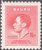 Nauru # 35 mnh ~ 1½p George VI