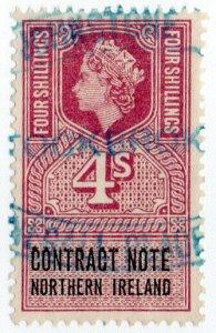 (I.B) Elizabeth II Revenue : Contract Note (Northern Ireland) 4/-