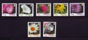 Guernsey Sc 978-84 2008 Flowers stamp set mint NH