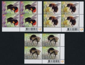 Slovenia 951-3 BR Blocks MNH Bees, Flowers, Insects