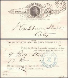 Goldpath: US Post Card. N.Y. & NE R.R. _CV19_P11