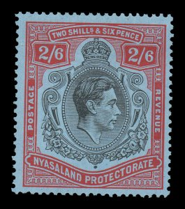 Nyasaland 1938 KGVI 2/6d SG 140 mint