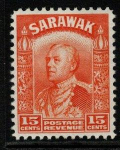 SARAWAK SG115 1934 15c ORANGE MTD MINT
