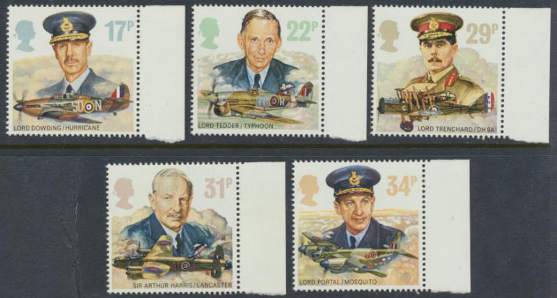 GB SG 1336 - 1340  SC# 1157-1161 Mint Never Hinged - Royal Air Force RAF Avia...