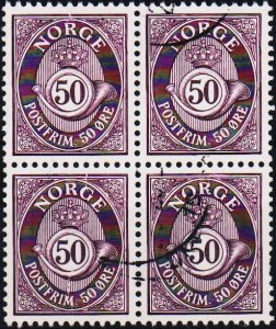 Norway. Date? 50ore(Block of 4).  Fine Used