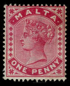 MALTA QV SG21, 1d rose, M MINT. Cat £85.