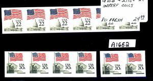 1895d Strip of 6 2115 Strip of 4 & Pair Mint VF NH Cat$54