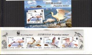 Korea 2009 WWF Birds Black-fronted Spoonbill Booklet MNH