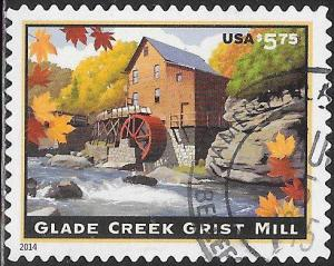 US 4927 Used - American Landmarks - Glade Creek Grist Mill - Priority $5.75
