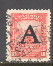 Colombia Sc # C187 used (DT)