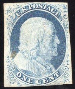 US Stamp Scott #9 Mint No Gum SCV $240