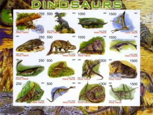 Timor (East) 2001 Dinosaurs Sheet Imperforated mnh.vf