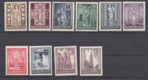 J29488, 1946 austria set mh #b189-98 designs
