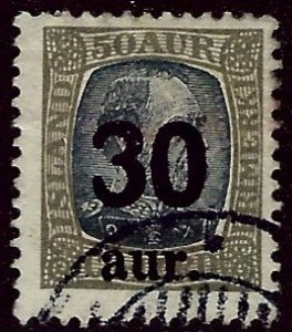 Iceland SC#137 Used F-VF SCV$40.00...Worth a Close Look!