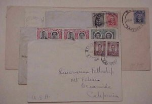 RHODESIA SOUTHERN  7 COVERS 1929-1949 FIVE TO USA