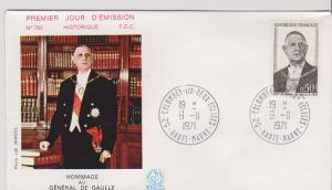 FRANCE STAMPS FDC -YEARS 1971- CH.DEGAULE # LOT#A-12