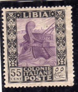 LIBIA 1921 PITTORICA CENT. 55c MLH VARIETÀ VARIETY