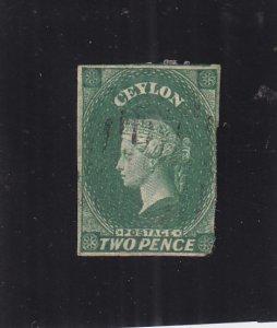 Ceylon: Sc #4, Used, Faults (S17769)