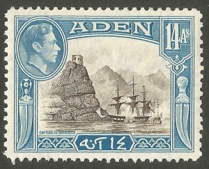 1939 Aden 14A Sepia and Light Blue unmounted mint SG23a