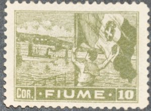DYNAMITE Stamps: Fiume Scott #43a – UNUSED