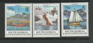 South Georgia 1995 Sailing Ships UM/MNH SG 258/60