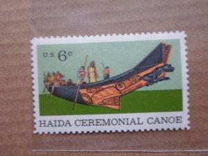 6 CENT STAMP HAIDA CEREMONIAL CANOE SC # 1389