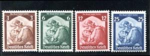 Germany 448-451 MNH 1935 Saar return