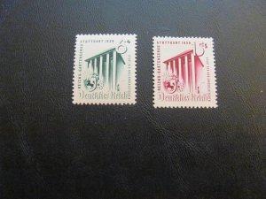 GERMANY 1939 MNH  SC# B138-9 EXHIBIT HALL SET  $17 (113)