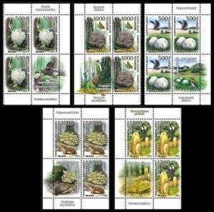 2010 Belarus 828-832x3+Tab Mushrooms / Fauna 11,00 €