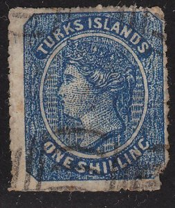 TURKS IS  An old forgery of a classic stamp................................69904