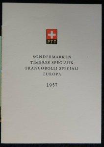 Switzerland 1957 FDC europa first day letter booklet PTT bern pm vfu