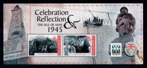 [101666] Isle of Man 2005 End World War II Souvenir Sheet MNH