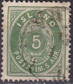 Iceland #16  F-VF Used CV $14.00  (K2766)