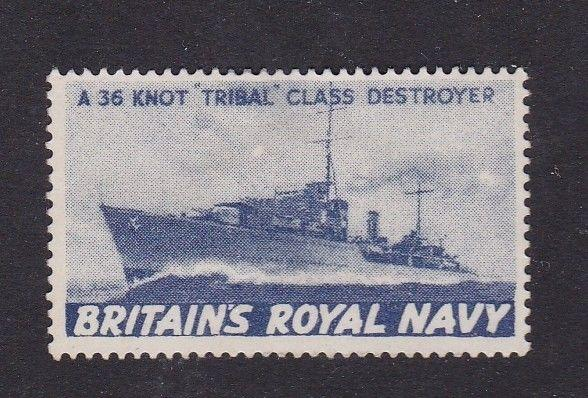 Britains Royal Navy Tribal Class Destroyer Wartime Cinderella Mint Hung