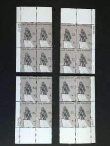Set of MNH matched plate blocks, Sc# 1359 Leif Erikson