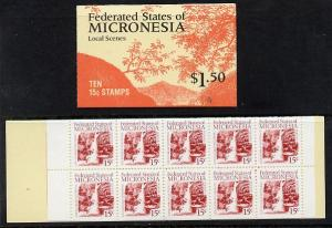 Booklet - Micronesia 1988 $1.50 booklet complete and find...